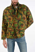 Off-white Men Jackets Camouflage Jacket With Extractable Hood Multicolor