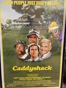 """Caddyshack Hand Signed Poster. 27"""" X 40"""" W/  C. O. A. Included For All 7"""