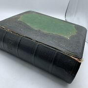 Antique 1880's Pictorial Bible, Heavy Bounding Gold Edged Pages, Gorgeous