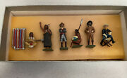 Vintage Four Feahters Wild West Toy Set C1980 All Hand Painted In Original Box
