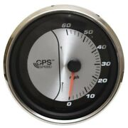 Faria Boat Gps Speedometer Gauge Gsc071a | 4 1/4 Inch Silver Black