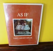 As If They Might Speak An Illustrated Autobiography By Dewees Cochran Excellent