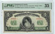 Canada Dc-23a-i 1917 1 Pmg Vf 35 Nice Looking Note