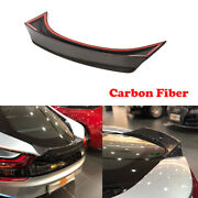 Rear Trunk Spoiler Racing Wing Fit For Bmw I8 2014-2018 Dry Carbon Fiber Trim