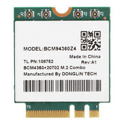 2.4g/5ghz Dual Band Wireless Network Card M.2 Ngff Adapter Wifi 1750mbps Antenna