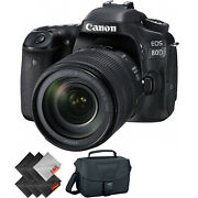 Canon Eos 80d Dslr Camera With 18-135mm Lens + Deluxe Accessories Bundle