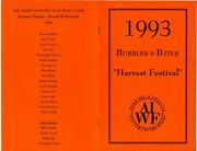 American Institute Of Food And Wine 1993 Bubbles And Bites Menus Arizona Chapter