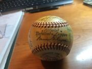 Early 1950and039s Brooklyn Dodgers Team Signed Baseball W/ Hodges Reese Robinsonandnbsp