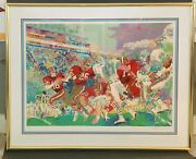 Leroy Neiman Super Bowl Xix 49ers Vs Dolphins Signed Serigraph 1985 Numbered -rs