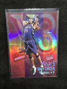 2000-01 Fleer Ultra Year 3 Platinum Refractor 9yt Vince Carter 063/100 Raptors