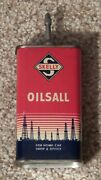 Vintage Skelly Oilsall Lead Top Handy Oil Tin Can 4oz Nice One