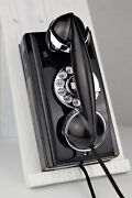 Vintage Antique Western Electric 354 Wall Phone - Chrome Accents - Fully Working