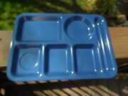 Texas Ware 146 Melmac Dark Blue Lunch/ Cafeteria Serving Divided Tray 10x14