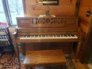 Baldwin Acrosonic Upright Piano Light Oak W/ Matching Bench Excellent Condition