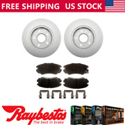 Front Kit Coated Brake Rotors And Ceramic Pad Set For 2011 Buick Regal -raybestos