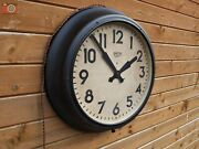 Vintage Large Smith Sectric Wall Clock. Lovely Original Metal Clock. Restored