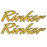 Rinker 228528 Gold / Black 23 X 5 3/4 In Foam Filled Raised Boat Decals Pair