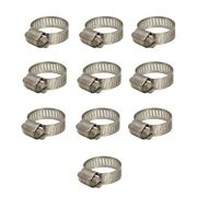 Ideal Boat Hose Clamps 62606   Lund Stainless Steel Size 6 Set Of 10
