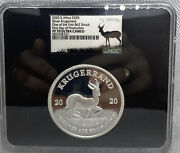 2020 2 Oz South Africa Silver Krugerrand 1 Of First 862 Struck Of 10000 Coa 35