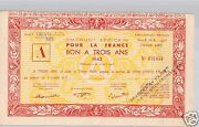 Aof Step African 500 Francs 30 June 1943 Rare