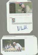 2 Kirk Hanefield Hand Signed Clippings Dating From Around 2005