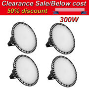 4x 300w Ufo Led High Bay Light Fixture Warehouse Industrial Gym Shed Lamp 110v