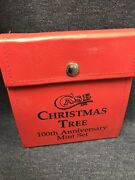 Case Xx Christmas Tree Ss 100th Ann. Mint 7 Pc Knife Set 1989 Ea. Numbered 270