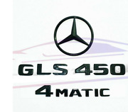 For Mercedes Emblem Sticker Star Boot Trunk Badge Gls450 4matic Gloss Black X167