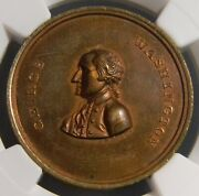 1862 Avoid The Extremes Of Party Spirit Token Medal Bolen Ngc Ms 64 Rb Top Pop