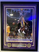 2020 Kobe Bryant Hof Framed Autograph Picture Psa/official Nba Product