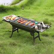 Mini Portable Grill Camping Outdoor Stand Folding Charcoal Bbq Cooking Accessori