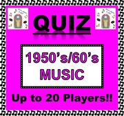 And0391950and039s/60and039s Musicand039 Pub Quiz Trivia Card Game Fun For Families/friends/zoom