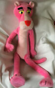Vintage 1980 Pink Panther Plush Stuffed Large Mighty Star Made In Korea 42 Inch