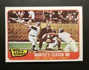 1965 Topps 134 Mantleand039s Clutch Hr Game 3 World Series Nice