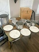 Aluminum 15 Piece Nesting Camping Cook Set, Cooking, Vintage
