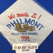 Boy Scout 1959 Philmont Valley Forge Council We Made It Neckerchief New In Bag