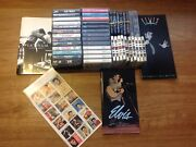 Lot Of 26 Vintage Elvis Presley Cassettes W/cases And 6vhs Tape--plus Much More