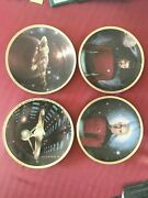 Star Trek And The Voyagers Hamilton Collector Plates 1993/1994 4 Lot