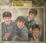 The Beatles Rare Lot 1964 1canvas, 8art Prints, 5trading Cards, 4 1/1 Relic