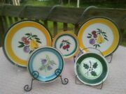 Vintage Stangl Pottery Mixed Set Of 5 Plates Dessert And Saucers Trenton Nj