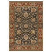 Mda Home Antique 10and039x14and039 Floral And Botanical Fabric Area Rug In Brown/blue
