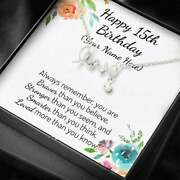 Happy 15th Birthday Scripted Love Necklace Personalized Name Gifts 15th Birthday