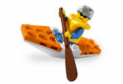 Lego 5621 City Town Coast Guard Kayak Complete W/instructions