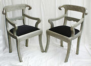 Pair Of Rams Head Anglo Indian Dowry Wedding Arm Chairs Repousse