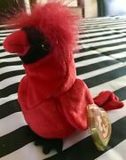 Ty Beanie Baby Mac The Cardinal Super Rare Europe - U.k. 1998 Mint And 1st Edition