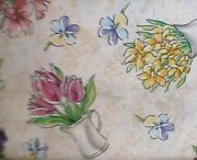 Longaberger Rare Retired Early Blossoms Fabric - New - 5 Yards Uncut- Shop Store