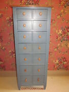 Ethan Allen Lingerie Chest Country Colors Denim Blue With Wheat 14 5414