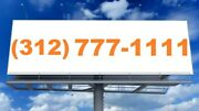 312 Area Code Chicago Illinois Loop Vanity Phone Number Double Repeater Rare
