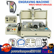 Usb 4axis Cnc 6090z Router Engraver Carving Mill Drill Machine 2.2kw +controller