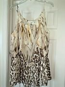 Cato Rayon Loose Fit Chocolate Caramel Tie Dye Delight Blouse Top Shirt 26w 28w